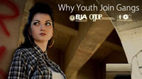 "Thumbnail of the ""Why Youth Join Gangs"" video launch screen"