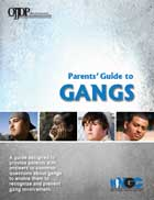 "Cover page of the ""Parents' Guide to Gangs"" PDF"