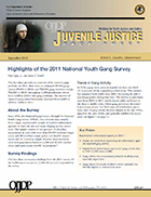 "Cover page thumbnail of ""Highlights of the 2011 National Youth Gang Survey"""