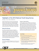"Cover page thumbnail of ""Highlights of the 2012 National Youth Gang Survey"""
